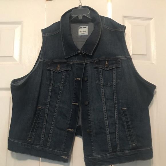 Old Navy Jackets & Blazers - Old Navy sleeveless blue jean jacket
